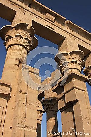 Philae temple columns