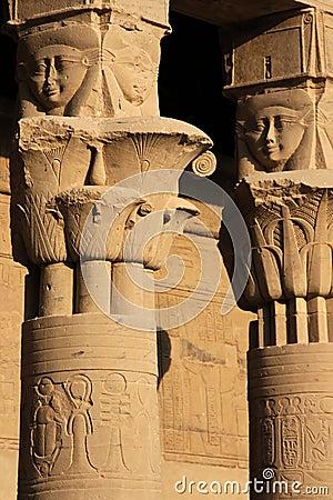 Philae temple details