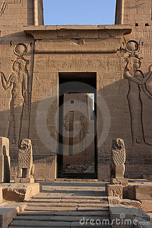Philae temple entrance