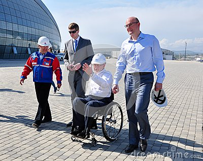 Philip Craven visited Sochi Olympic Park Editorial Photo
