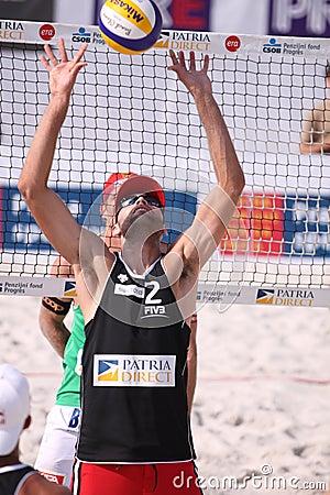 Philip Dalhausser - estrela mundial do voleibol da praia Foto Editorial