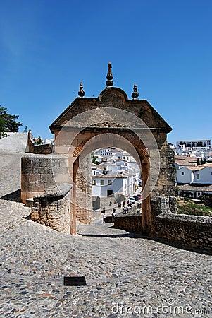 Philip V arch, Ronda, Spain.
