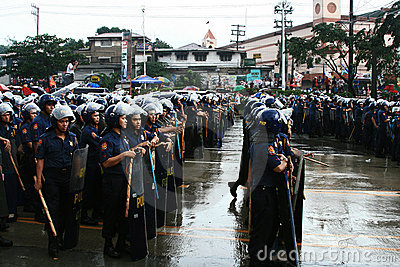 Philippine national police force Editorial Stock Image
