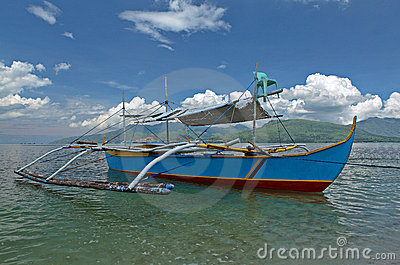 Philippine outrigger boat