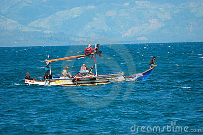 Philippines, Mindanao, Fishing family