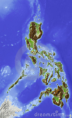 Philippines, relief map