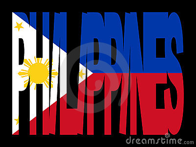 Philippines text with flag