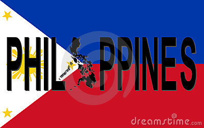 Philippines text with map