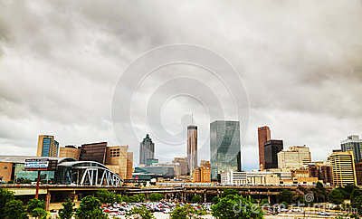 Philips Arena and CNN Center in Atlanta Editorial Stock Image