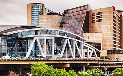 Philips Arena and CNN Center in Atlanta Editorial Photo