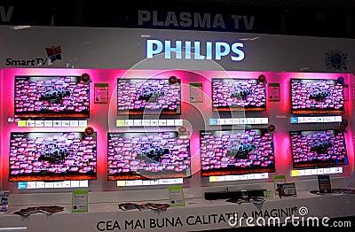 Philips plasma Redaktionell Arkivbild