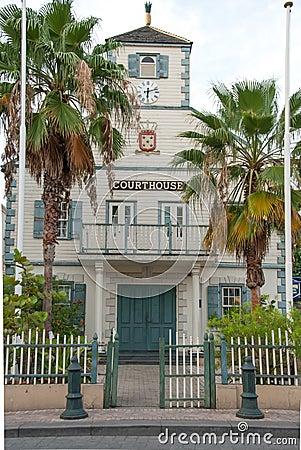Free Philipsburg, Sint Maarten Courthouse Stock Photos - 41321733