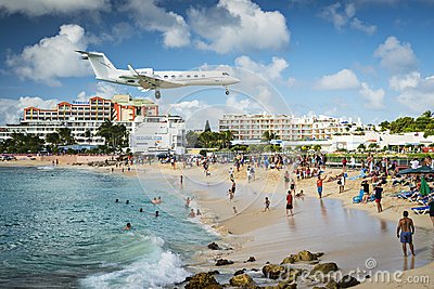 Philispburg, Sint Maarten, Dutch Antilles Editorial Image