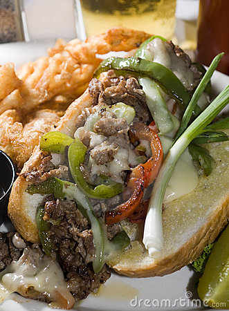 Free Philly Cheese Steak Sandwich Stock Photography - 9182172