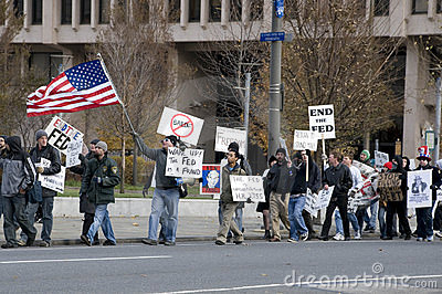 Philly Federal Reserve Protest Editorial Photography
