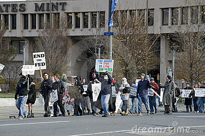 Philly Federal Reserve Protest Editorial Image
