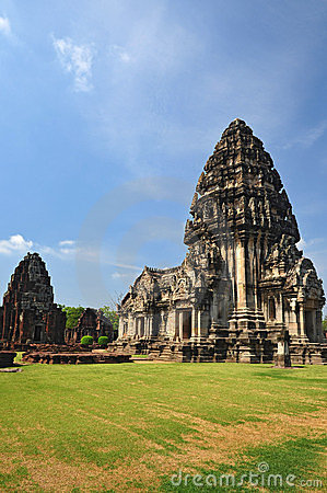 Phimai sanctuary ,Ancient Khmer phrang thailand