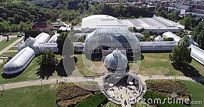 Phipps Conservatory and Botanical Gardens in Pittsburgh, Pennsylvania, Vereinigte Staaten Die Gartenbauzentren des Schenley Park stock footage