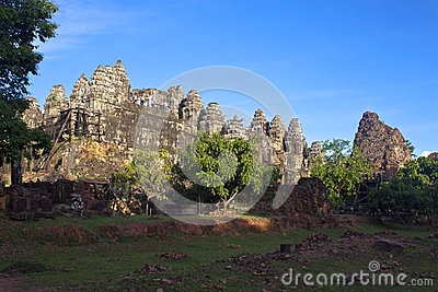 吴哥寺庙Phnom Bakheng