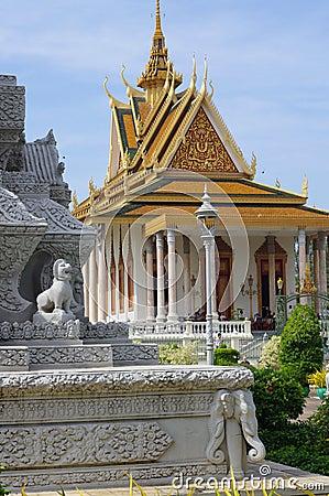 Silver, Pagoda in Phnom Penh