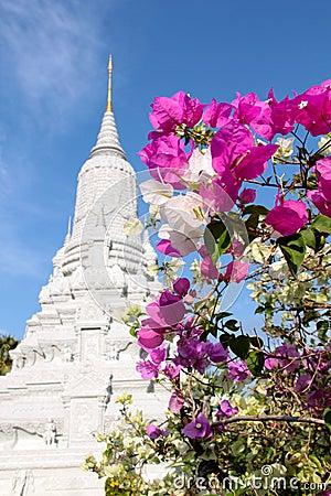 Phnom Penh - HM Koning ANG Doung Stupa