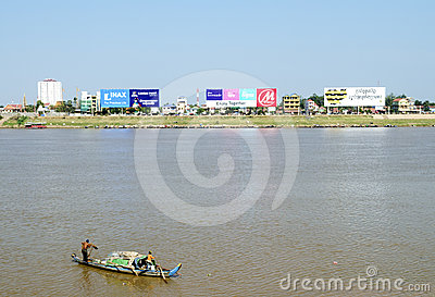Phnom penh riverside in cambodia Editorial Image