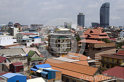 Phnom Penh skyline Editorial Photo