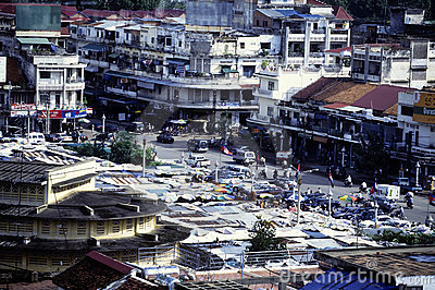 Phnom Penh skyline- Cambodia