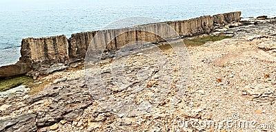 The Phoenecian Sea Wall at Batroun, Lebanon