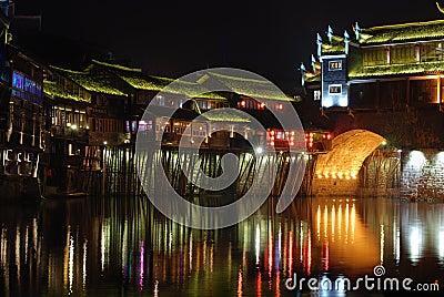 Phoenix Ancient City night scene