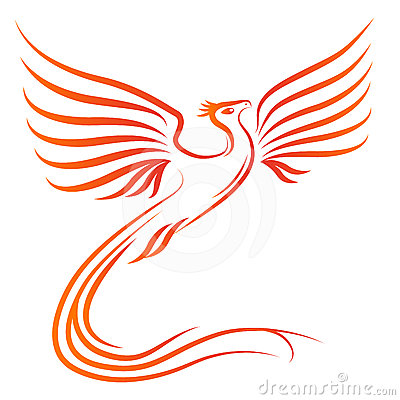 Free Phoenix Bird Silhouette Royalty Free Stock Image - 24304616