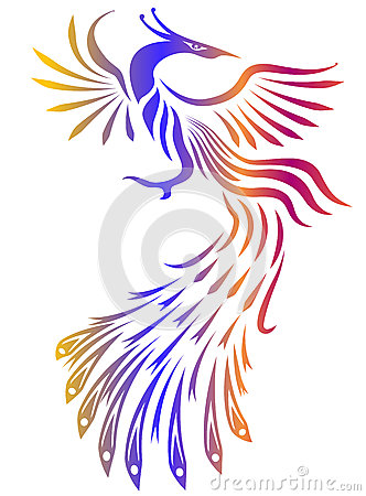 White Phoenix Bird