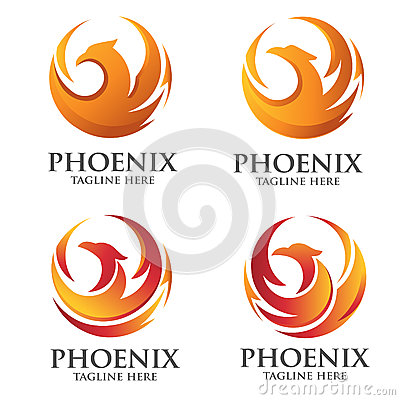 Free Phoenix Circle Logo Concept Stock Photography - 60081342