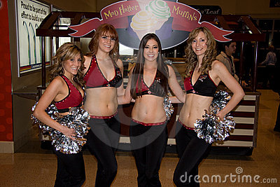 Phoenix Coyotes Cheerleaders Editorial Image