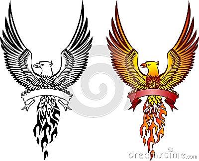Phoenix and emblem