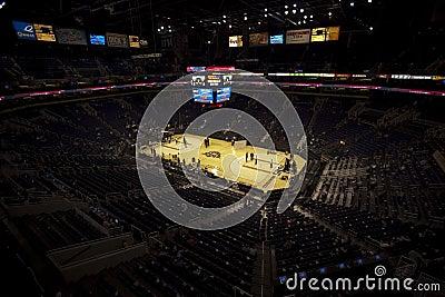Phoenix expore ao sol a arena, centro da via aérea dos E.U. Fotografia Editorial