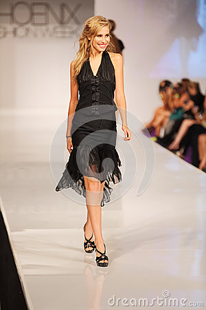 Phoenix Fashion Week Thursday Runway Shows Editorial Stock Photo