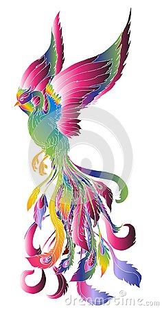 Free Phoenix Fire Bird Illustration And Character Design.Hand Drawn Phoenix Tattoo  Stock Images - 99492874