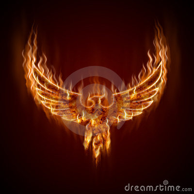 Free Phoenix From Fire With Wings Royalty Free Stock Photo - 20826465