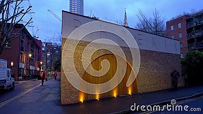 Phoenix Garden in Londen - LONDON, ENGLAND - 11 DECEMBER, 2019 stock footage