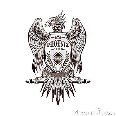 Free Phoenix Hand Draw Club Vector Illustration Stock Photography - 137515042