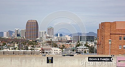 Phoenix Skyline from parking garage