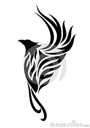 Phoenix Tattoo Clipart Stock Illustration Image 64873448