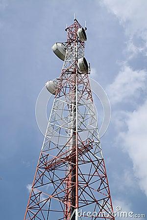 Phone antenna tower.