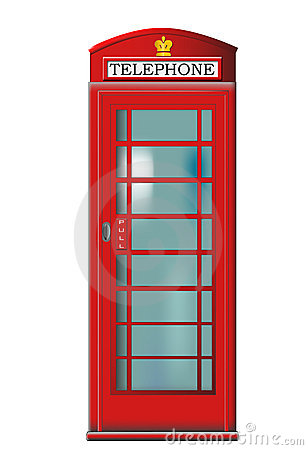 Free Phone Booth Vector Stock Photo - 9643660