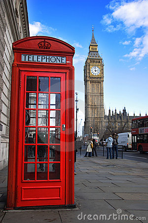 Free Phone Box And Big Ben Stock Photo - 2069190
