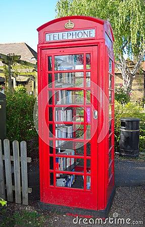 Phone Box Book Exchange Editorial Photo