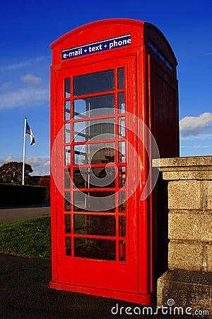 Phone box  in the United Kingdom