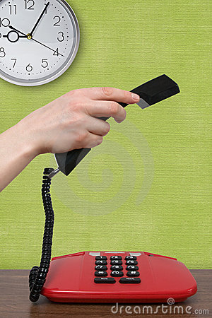 Free Phone Call In A Morning Royalty Free Stock Photography - 22638217