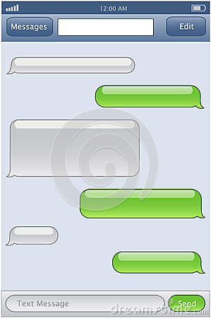 blank text message iphone phone chat template royalty free stock photo image 29778025 13663